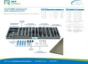 Data sheet for R&R CMM fixtures 1/4-20 plate options with clamping set A