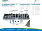 Data sheet for R&R CMM fixtures M8 plate options with magnetic & clamping set A